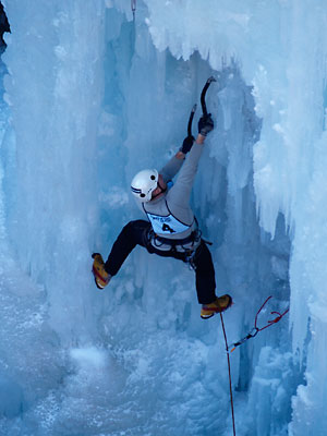 Ice climbing in Ouray, Colorado