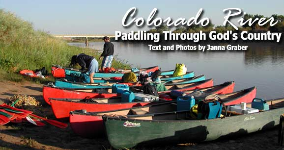 Canoe trip down the Colorado River in Colorado