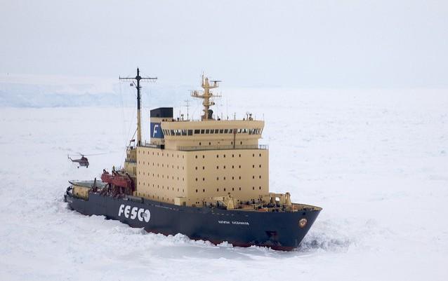 The Kapitan Khlebnikov in Greenland. Flickr/ianduffy