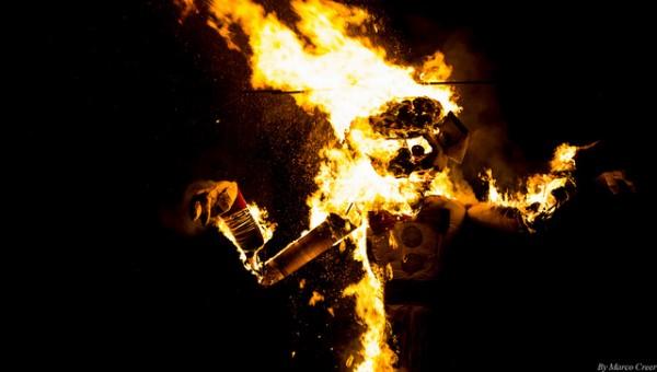 Santa fe burning zozobra art