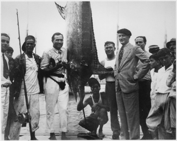 Ernest Hemingway fishing