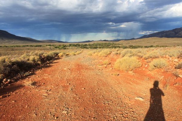 Alone in the empty Karoo desert