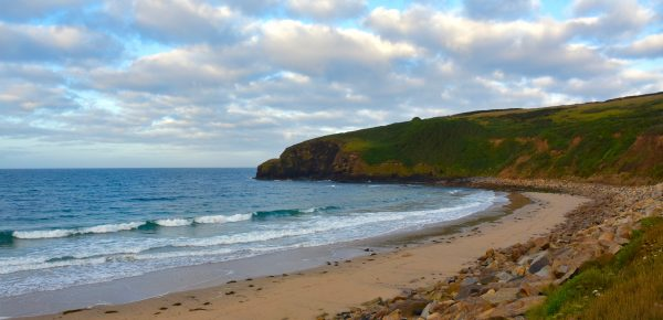 Early morning at Gwenver Beach, Cornwall. Photo by Noelle Salmi