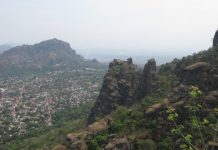 The view of Tepoztlan from the top of the mountain
