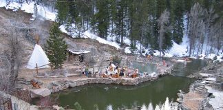 Relax after a long day of adventuring in the Strawberry Hot Springs just outside of Steamboat Sprins